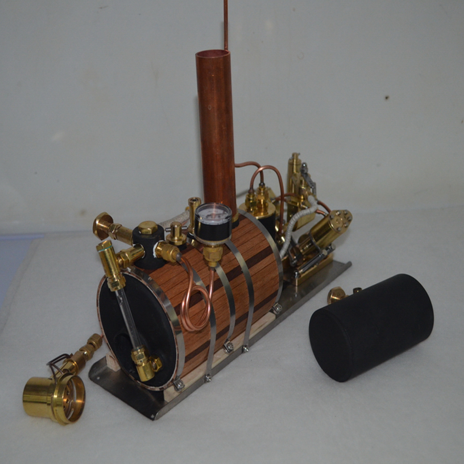 V-type double cylinder reciprocating steam engine model power group