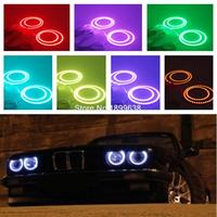 4pcs Super Bright 7 Color RGB Multi Color LED Angel Eyes Kit With A Remote Control
