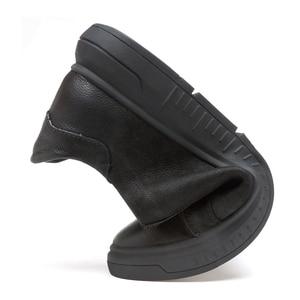 Image 5 - סניקרס גברים נעליים יומיומיות אמיתי עור מבטא אירי נעלי mens מעצב מוצק קלאסי אופנה זכר תחרה עד דירות שחור 36 46
