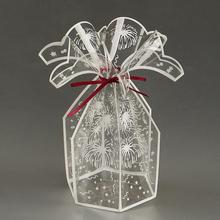 Clear PVC Favour Boxes Wedding Birthday Party Candy Transparent Gift Box Printed Fireworks