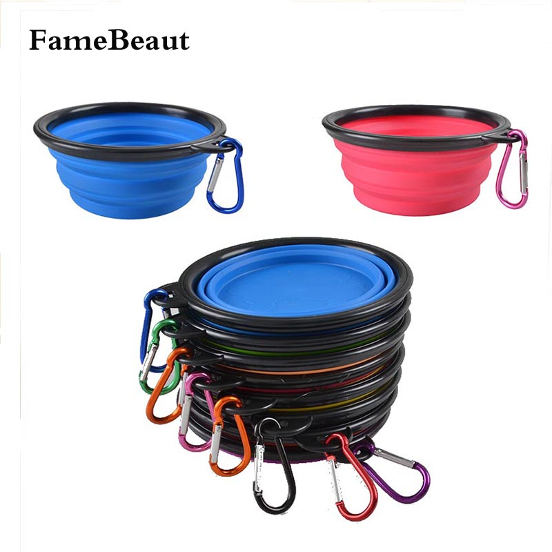 Portable Dog Water Bowls Bowl For Large Breed Dogs Premium: FameBeaut Foldable Bowls For Dogs Pet Feeder Candy Color