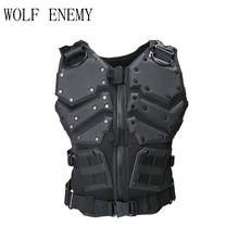 Molle Tactical Army Army Combat Cuerpo Chaleco Body Protector Negro