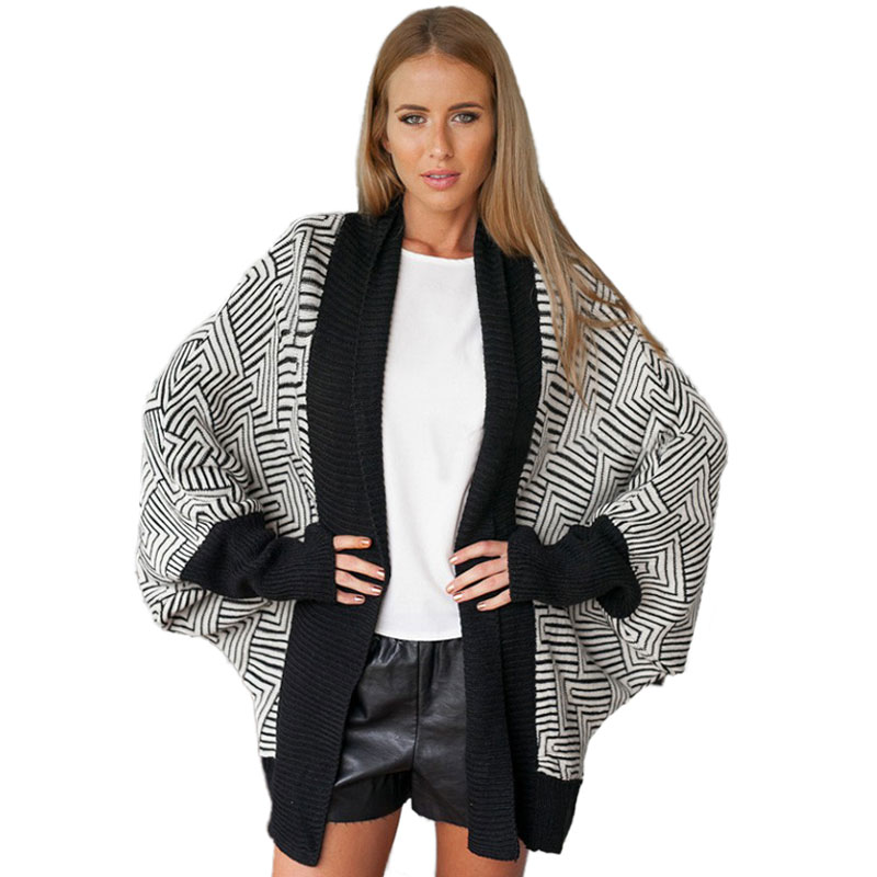 Newest Argyle Women Poncho Sweaters Autumn Winter Warm Cape Cardigans Fashion Knitted Batwing Sleeve Woman Shawl Wrap ON SALE