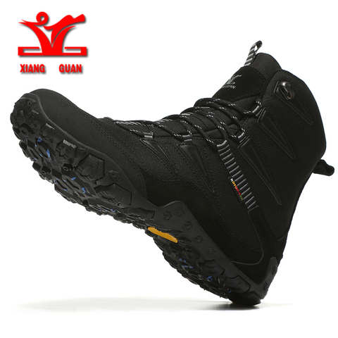 XIANGGUAN Winter Men Hiking Shoes Wool Lining Snow Boots Outdoor Hunting Boots Waterproof Mountaine Shoes Men Climbing Shoes man Islamabad