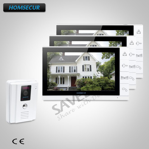 HOMSECUR 1C3M 9inch Wired Hands-free Video&Audio Home Intercom with Dual-way Intercom
