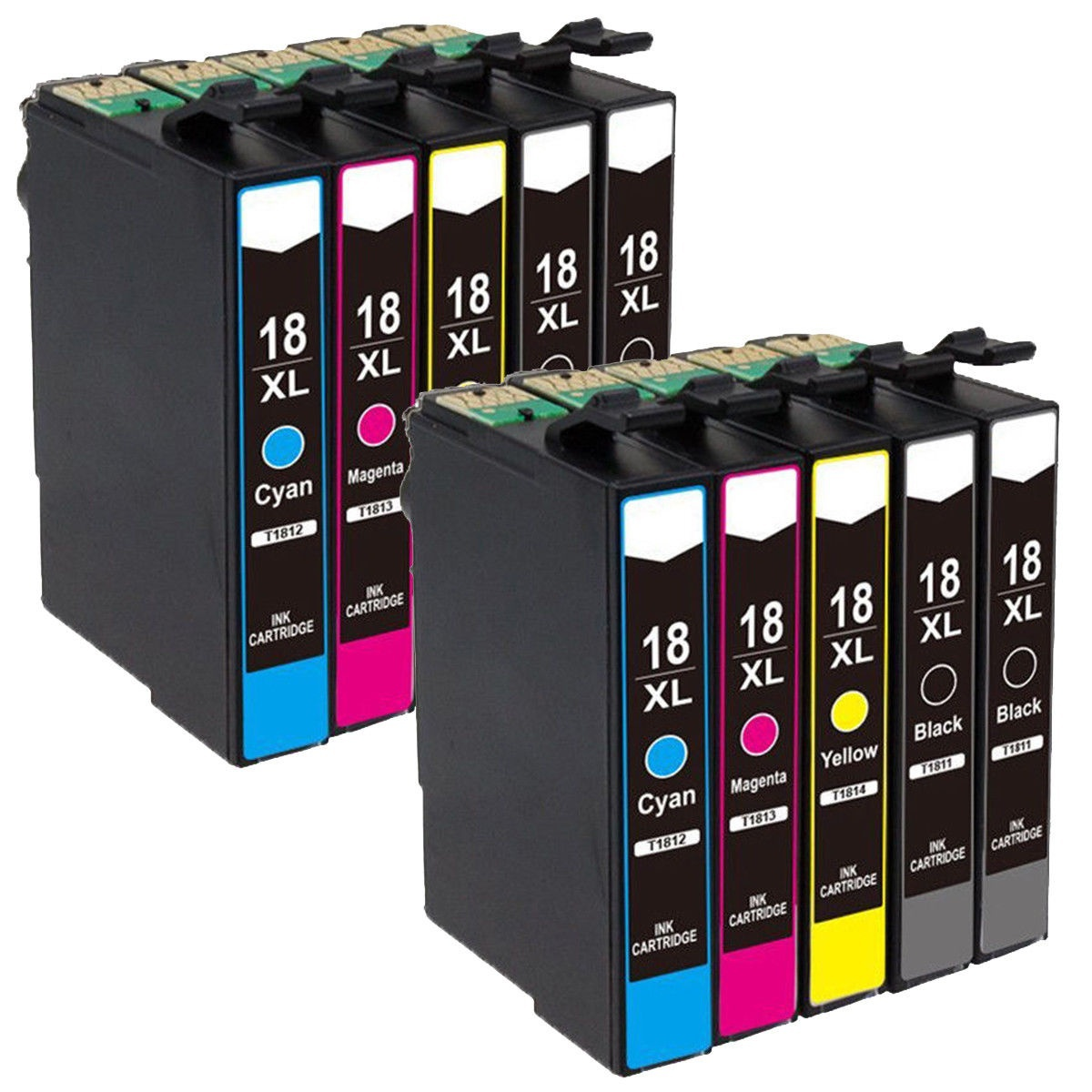 10 Cartridges Compatible For Epson Expression Home XP-205 212 215 312 315 412 415 225 T1811
