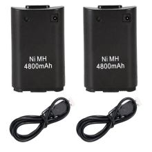 2x 4800mAh Rechargeable Battery Pack + USB Charger Cable for Xbox 360 Wireless Game Controller Gamepads For Xbox 360 Battery цена в Москве и Питере