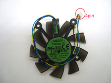 Бесплатная доставка Everflow R128015SU 75 мм кулер вентилятор для ASUS GTX 560 GTX550Ti HD7850 Графика охлаждение для видеокарты вентиляторы