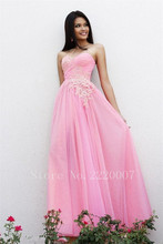 Lovely Sweetheart Bridesmaid Dress Floor Length Prom Gown Chiffon Appliques Wedding Dress A Line Backless Bridesmaid Dresses