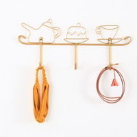 Nordic porch key hook clothing store wall decoration wall hanging bedroom home creative personality pendant coat hanger bag rack