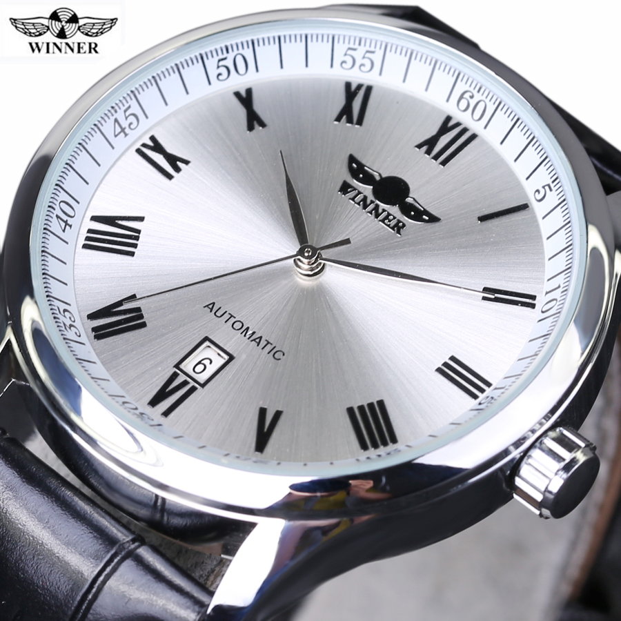 Winner AUTO Date Automatic Mechanical Watches Mens Watches Top Brand Luxury Relogio Masculino Business WristWatch winner auto date automatic mechanical watches mens watches top brand luxury relogio masculino business wristwatch