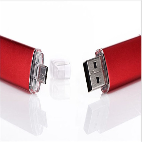 High Quality usb drive flash mobile phone computer dual usb flash drive flat twin plug p ...