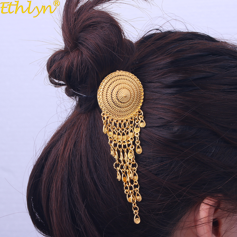 Ethlyn Southeast Asian Women jewelry , Thai style Gold Color Hair Stick ,Thailand Daily Use Wear Accessories