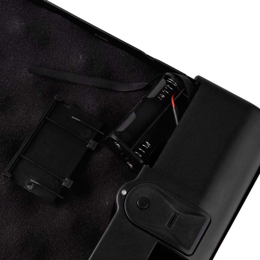 OS120B แบบพกพาปืนพกกล่อง Scratch - ประเภทลายนิ้วมือและกุญแจล็อคความปลอดภัย 2 - in - 1 กล่องมีค่าเครื่องประดับ storage Case