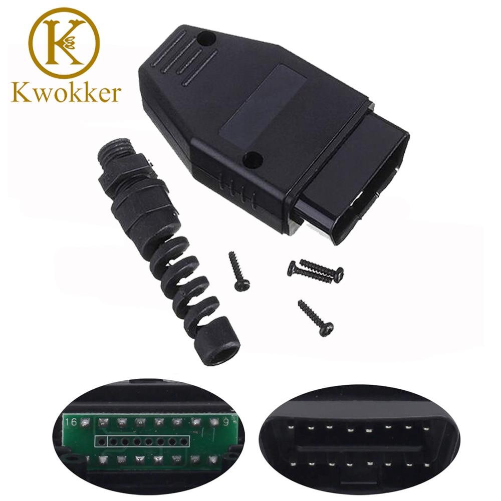 Kwokker Obd2 Obdii Cable 16 Pin Obd 2 Obdii Male Connector
