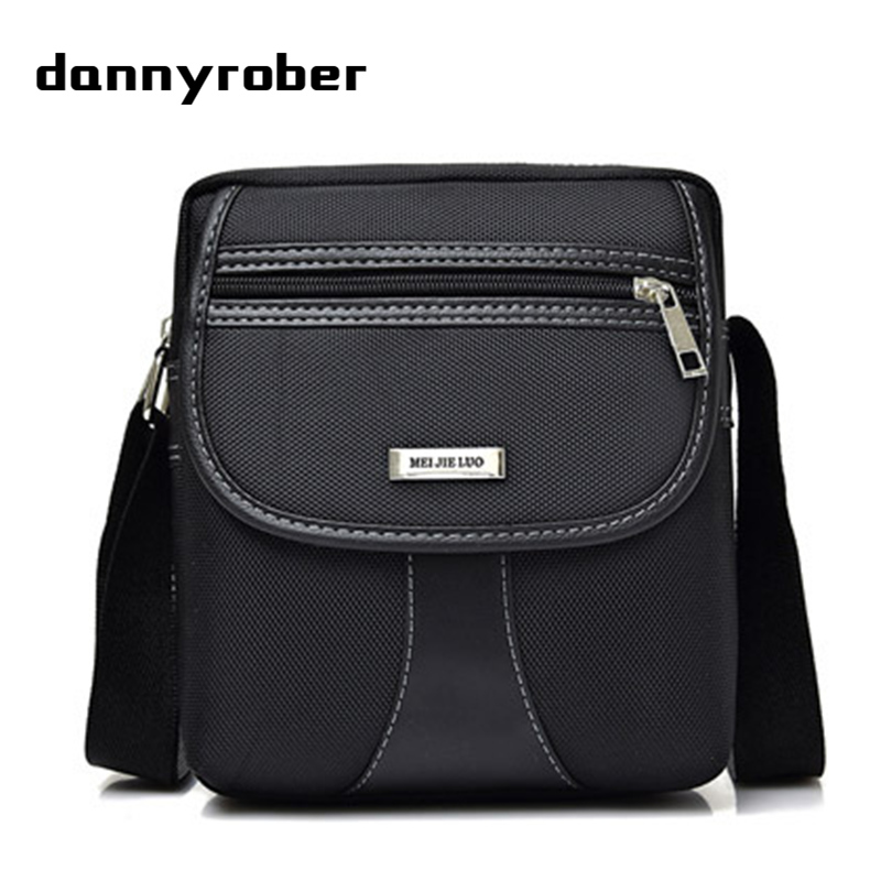 DANNYROBER Two styles Fashion 2017 Male Shoulder Crossbody Bags High Quality Small Business Bag Men Casual Travel Messenger Bag jason tutu promotions men shoulder bags leisure travel black small bag crossbody messenger bag men leather high quality b206