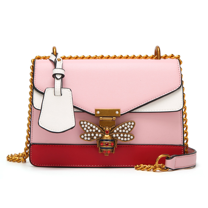 WITFLASH Lady Bag 2017 Women Color Splicing Little Bee Bags Fashion Cover Style Design Handbag Casual Shoulder Messenger Bag New the little old lady in saint tropez