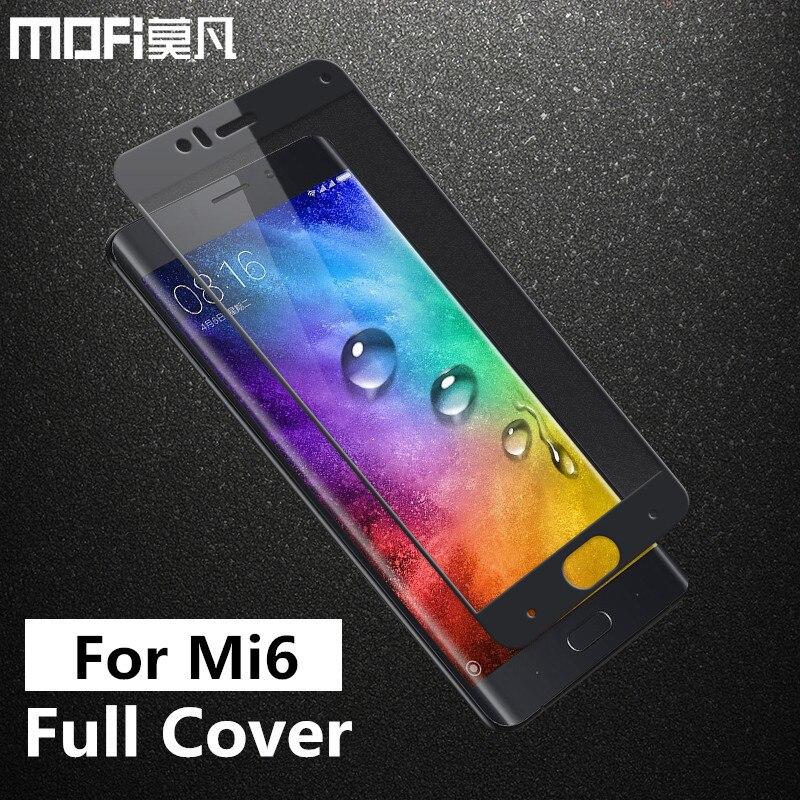 Xiaomi mi 6 glas gehärtetem MOFi original xiaomi mi 6 screen protector film volle abdeckung xiaomi 6 mi 6 gehärtetem glas 5,15 zoll