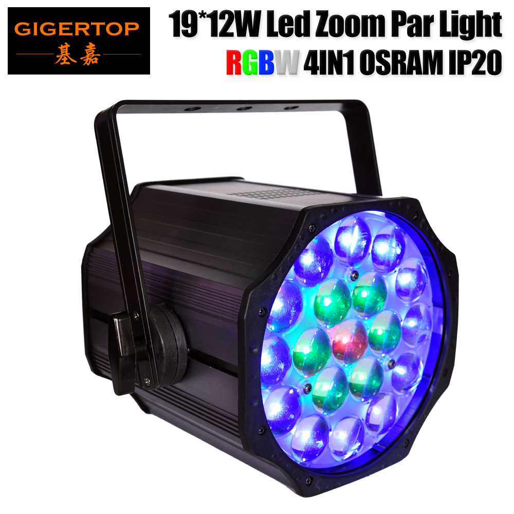 TIPTOP TP-P84 Led Stage Light High Power 19x12W RGBW 4in1 Zoom Par Light With DMX512 Master Slave Led Flat DJ Equipment Indoor