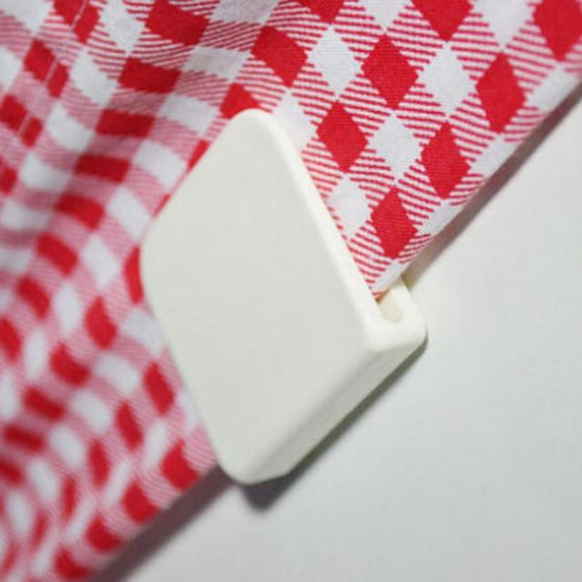 Adeeing 2 pz Fissaggio Adesivo Tenda Della Doccia Morsetti di Figura di U Clip F