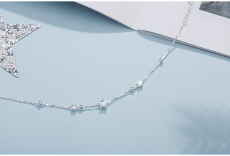 HTB14mDBGHSYBuNjSspfq6AZCpXaW SA SILVERAGE 925 Sterling Silver Charms Bracelets Bangles for Women 925 Silver Star Ball Chain Link Bracelets Pulseira Feminina