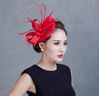 2017 new fashion beautiful models in Europe and America, Ms. linen hat church hat bridal headdress