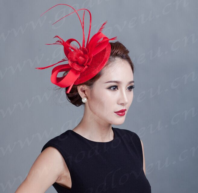 2017 new fashion beautiful models in Europe and America, Ms. linen hat church hat bridal headdress 2016 new styles of leather and fashion in europe and america