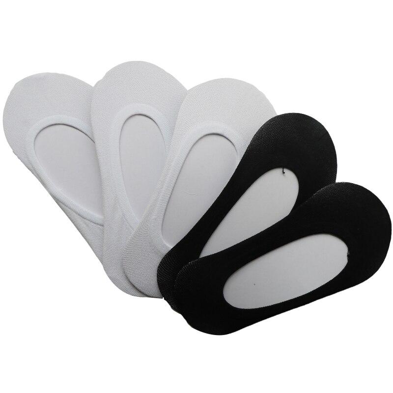 10 шт./5 пар, летние носки-башмачки, женские невидимые носки, тонкие Нескользящие короткие Дышащие носки без показа, Meias Calcetines
