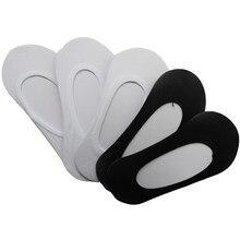 Meias curtas para mulheres, 10 peças/5 pares meias invisíveis não escorregadia corte baixo meias curtas respiráveis meias calcetines