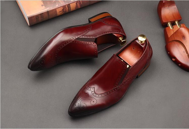 Mens Borgues Oxfords Shoes 2018 Slip On Summer Dress Wedding Barque Derby Shoes Carved Man Oxfords Genuine Leather Runway Mujers ch kwok crocodile leather mens dress wedding oxfords slip on male business suits tuxedo oxfords spring autumn man derby shoes