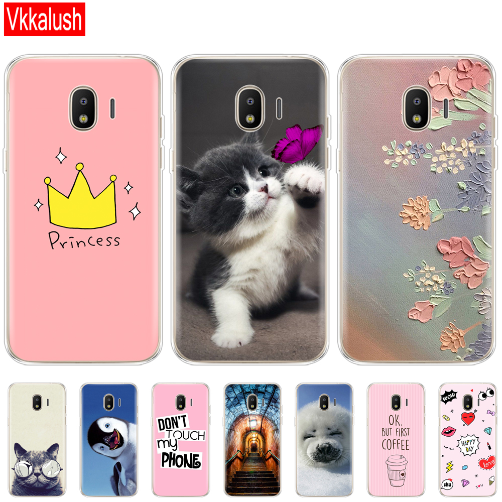 Soft Case For Samsung J2 Core Ccase Silicon Back Cover Phone Case For Samsung Galaxy J2 Core 2018 J 2 SM-J260F J260F J260 Cat