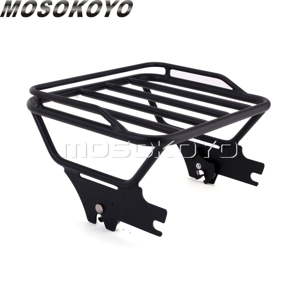 Motorcycle Detachable Two-Up Tour Pak Luggage Rack for Harley Road King FLHT FLHX FLTR 1997-2008Motorcycle Detachable Two-Up Tour Pak Luggage Rack for Harley Road King FLHT FLHX FLTR 1997-2008