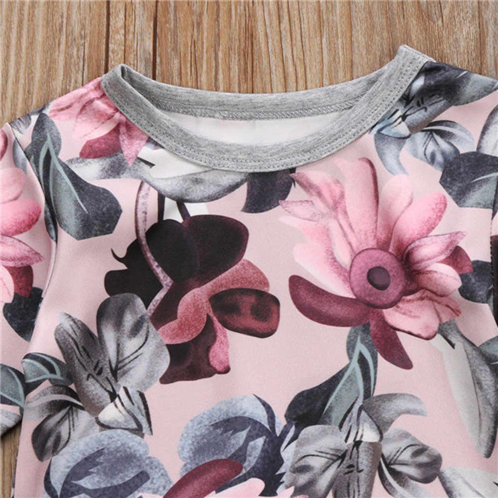 MUQGEW יילוד vestido infantil תינוק בנות בגדי מעיל חולצה חולצות + מכנסיים פרחוניים חותלות תלבושות סט roupa דה bebe terno #06