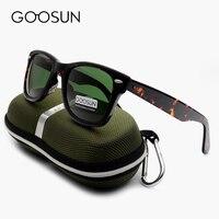 GOOSUN Green Glass Lenses Luxury Sunglasses Women Brand Designer Acetate Frame Sun Glasses For Women Multi