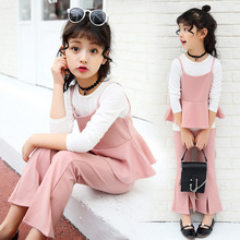 Autumn Fashion Autumn Girls Clothing 2017 Autumn Girls Long Sleeve T Shirt +Vest Tops+Pant 3PCS Casual Suits Children Clothing 2