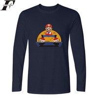 Super Mario Bros Long T Shirt Men Hip Hop TShirts And Super Mario Long Sleeve T