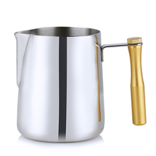 Stainless Steel Milk Frothing jug Coffee Frothing Jug For Espresso Mugs Frothing Jug Removable Handle 600ml