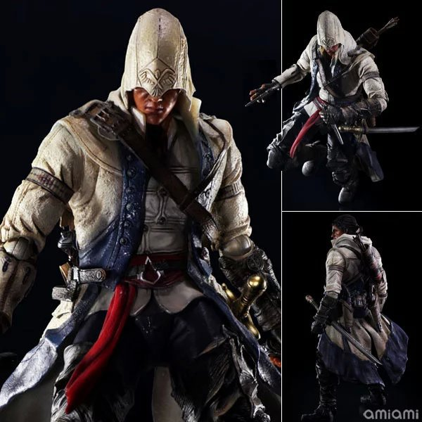 все цены на Play Arts Kai Assassin's Creed III Assassin Greed Connor Kenway PA Figure Ezio PA 250MM PVC Action Figure Toys Gift Brinquedos