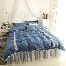 Комплект постельного белья из 100% хлопка с кружевом для принцессы
