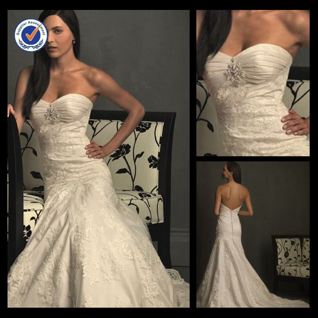 Em0067 New Fashion Sweetheart Lace Wedding Dress Pattern And Beaded Moroccan Dresses