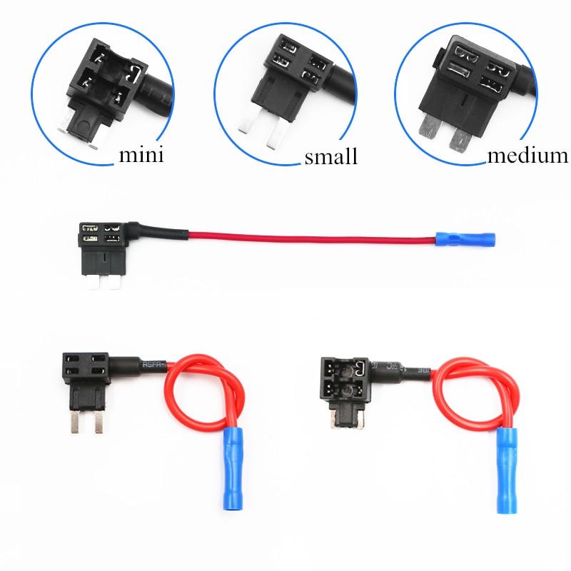 1pcs 12v Mini Small Medium Fuse Holder Add A Circuit Fuse Tap Adapter Atm Apm Blade Fuse Holder