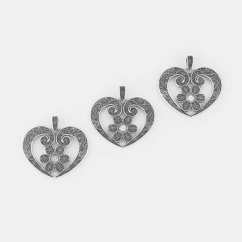 2 PCS โบราณเงินขนาดใหญ่ดอกไม้ Hollow Filigree หัวใจ Charms จี้ 8 มม. รอบช่องว่าง Cabochon การตั้งค่าสำหรับสร้อยคอเครื่องประดับ