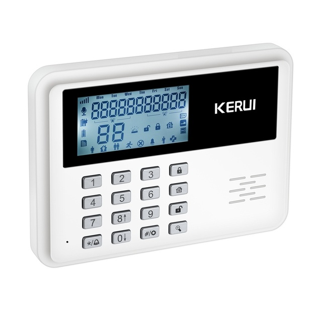 2017 KERUI 5900G intelligent Android IOS app remote control Wireless Home Security SIM SMS GSM Alarm System Kit+large LCD screen
