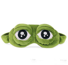 Funny Creative Pepe the Frog Sad Frog 3D Eye Mask Cover Cartoon Plush Sleeping Mask Cute Anime Gift toy(China)