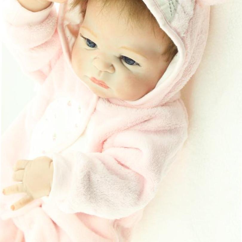 55cm Tam Bədən Silikon Yenidoğulmuş Qız Qız Doll Oyuncaq - Kuklalar və kuklalar üçün aksesuarlar - Fotoqrafiya 4
