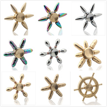2017 Brass Fidget Hand Spinner Multicolor Bearing Finger Spinner  Metal Kids/Adult Funny Anti Stress Fidget Toy