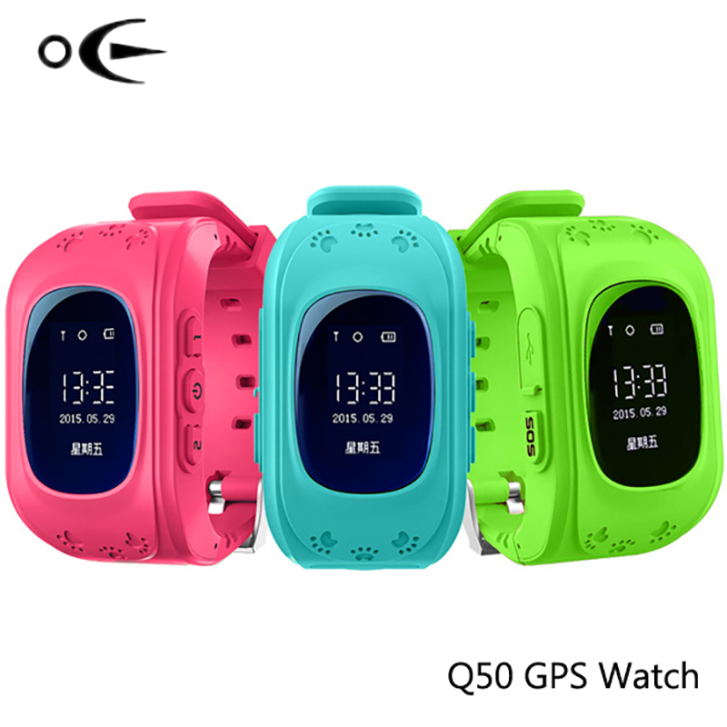 OE Q50 Children's watches for children watch  Call Location Finder  Gps tracker for children Lost Monitor Children's  Wristwatch wireless service call bell system popular in restaurant ce passed 433 92mhz full equipment watch pager 1 watch 7 call button