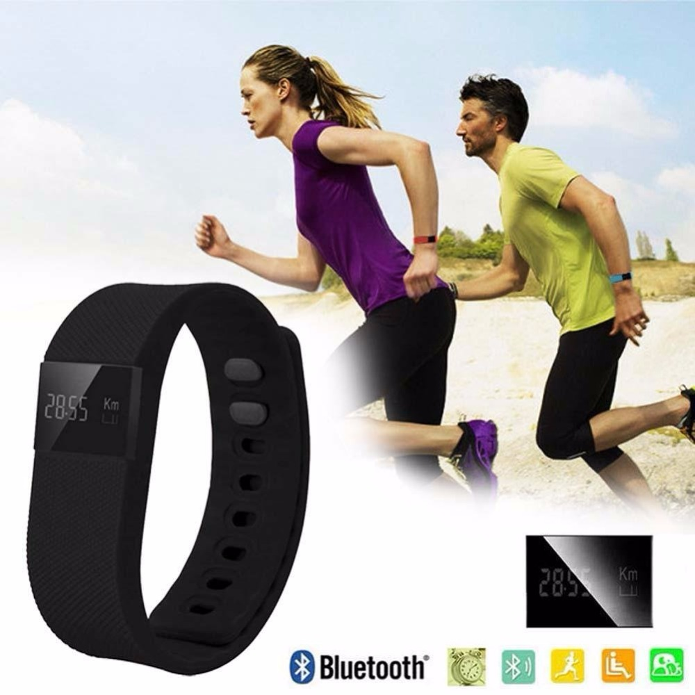 Free Shipping Fitness Tracker Wearable Wristband Bluetooth 4 0 SmartBand TW64 for IOS and Android SmartBracelet
