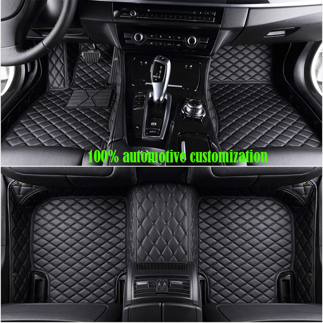 Coche personalizado alfombras de piso para hyundai getz kia sportage 2018 mazda cx-5 toyota corolla para peugeot 307 sw ford fiesta mk7 Esteras del coche