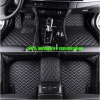 Custom Car floor mats for hyundai getz kia sportage 2018 mazda cx 5 toyota corolla for peugeot 307 sw ford fiesta mk7 car mats